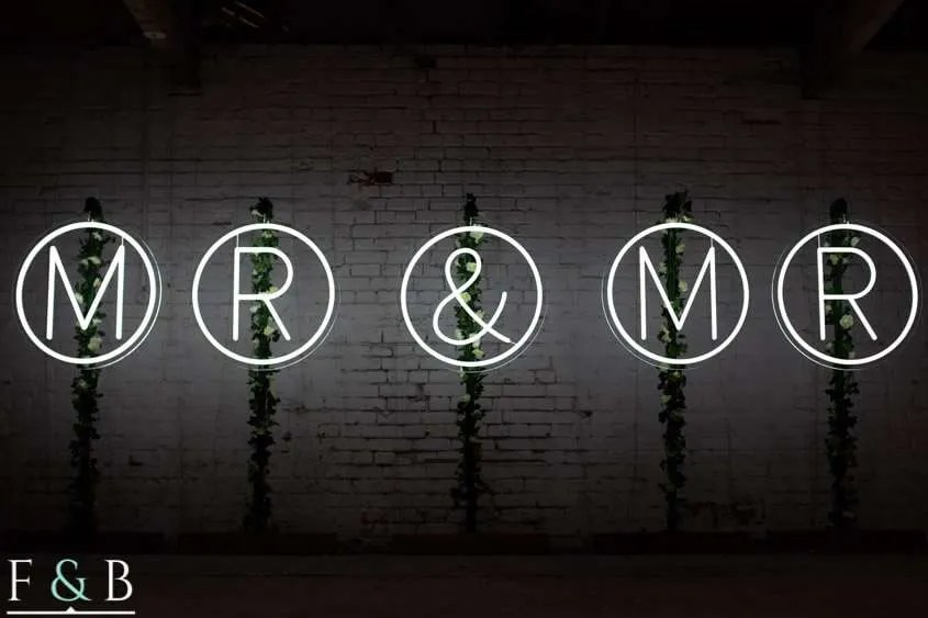 free standing neon letters