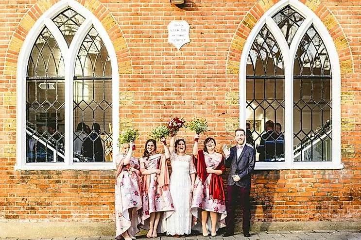 Bridesmaids at the old parish rooms
