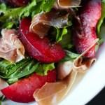 Plum, Mozzarella and Prosciutto Salad