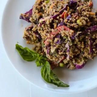 Spicy Peanut Quinoa Salad