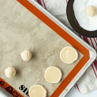 Vanilla Shortbread Cookies with Peanut Butter and Chocolate Glaze