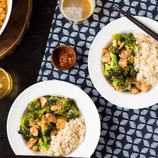 Healthier One Pan Orange Chicken and Broccoli