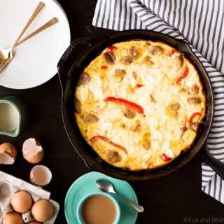 Sausage, Red Pepper and Goat Cheese Frittata