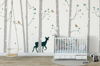 Tree Wall Stickers Nursery Ideas | Forest Animal Wall Stickers