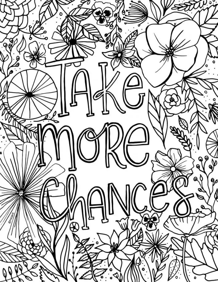 Free Encouragement Flower Coloring Page Printable | Fox ... | free printable flower coloring pages