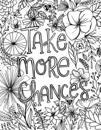 Free Encouragement Flower Coloring Page Printable | Fox ...