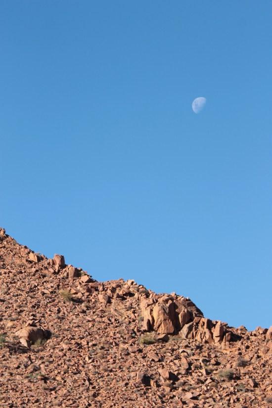 Namibian Colours Photography Nature Moon Sky Vacation