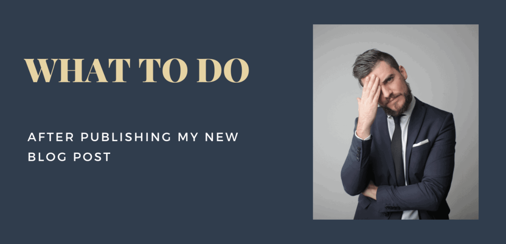 Things After writing and publishing new blog post