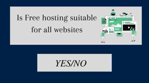 Is free hosting suitable for websites and blogs
