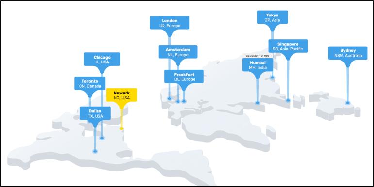 Fastcomet Hosting Data centres location