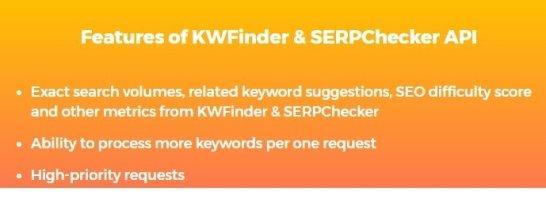 KWFinder Features