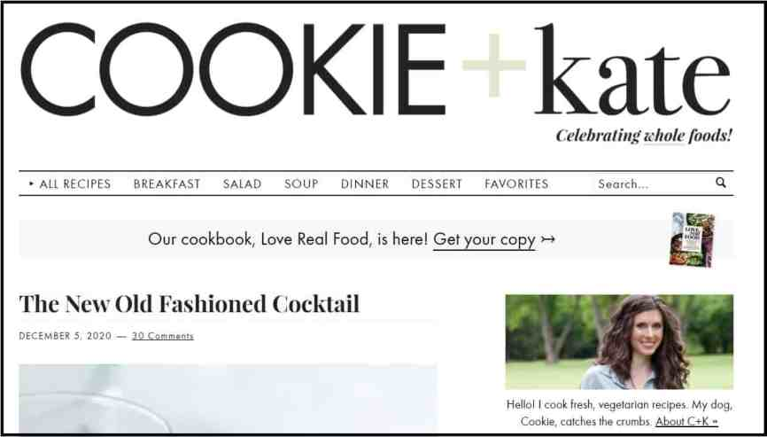 Best food and cooking bloggers - Cookieandkate