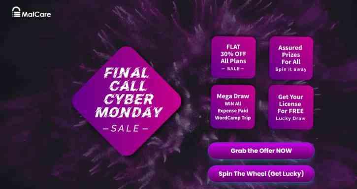 Malcare Black Friday Deals