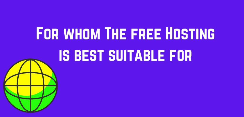 Who should use free website hosting