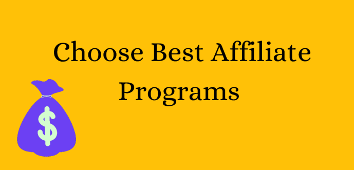 How to choose best affiliate products