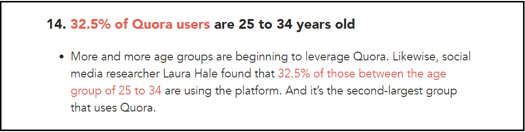 Age of visitors using website