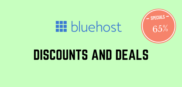 Bluehost coupon codes and discounts