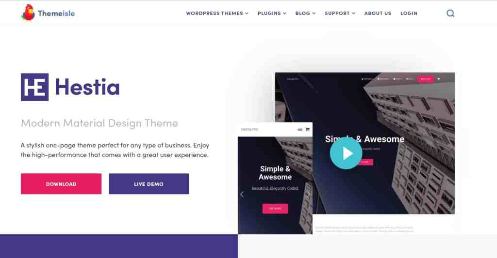 Hestia - Perfect WordPress blog theme