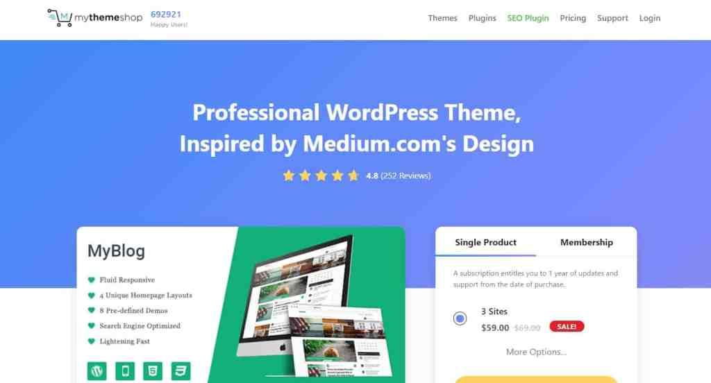 MyBlog - SEO optimized blogging theme