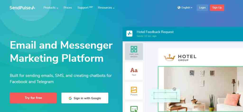 Sendpulse - free multichannel marketing tool