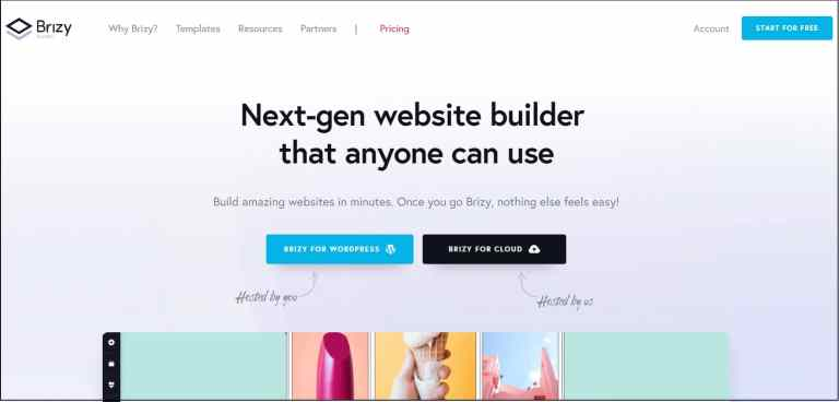Brizy Page builder for WordPress