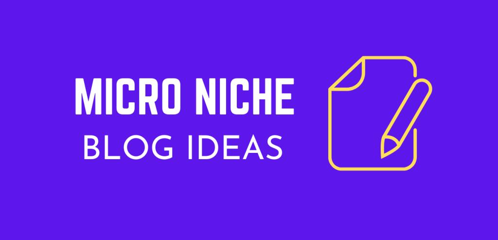Micro Niche blog ideas for niche sites