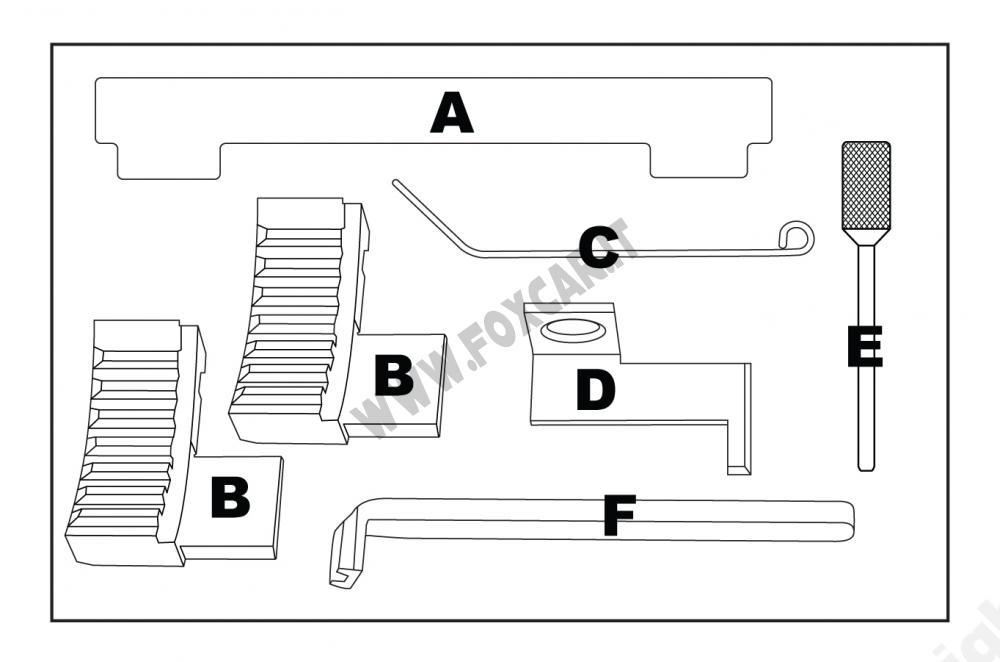 Attrezzi messa in fase per Opel, Chevrolet, Fiat e Alfa