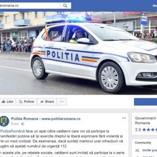 politia monitorizeaza facebook