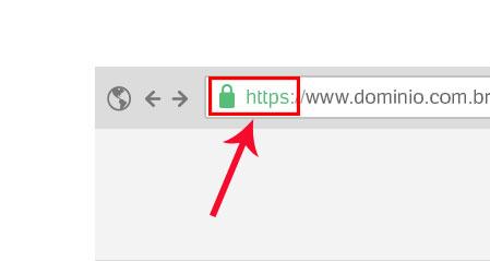 Imagem mostra onde está a indicação do SSL