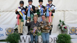 Foxes Pony Club winning team