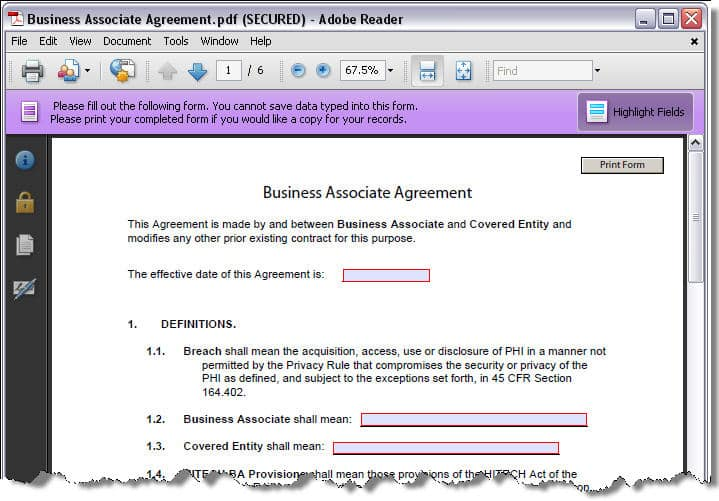 HIPAA Business Associate Agreement - new rules mean mandatory ...