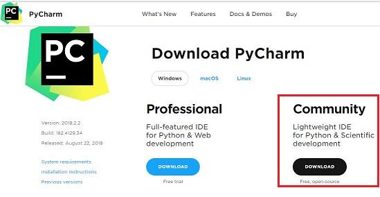 Download PyCharm for Windows 10