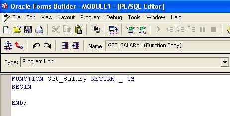 How to Create Program Unit in Oracle Forms? | Vinish Kapoor's Blog