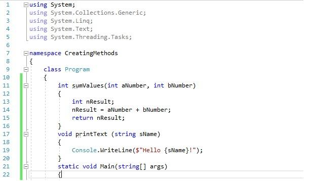 C# Method Tutorial