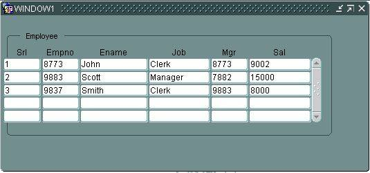 Adding serial number column in Oracle Forms.