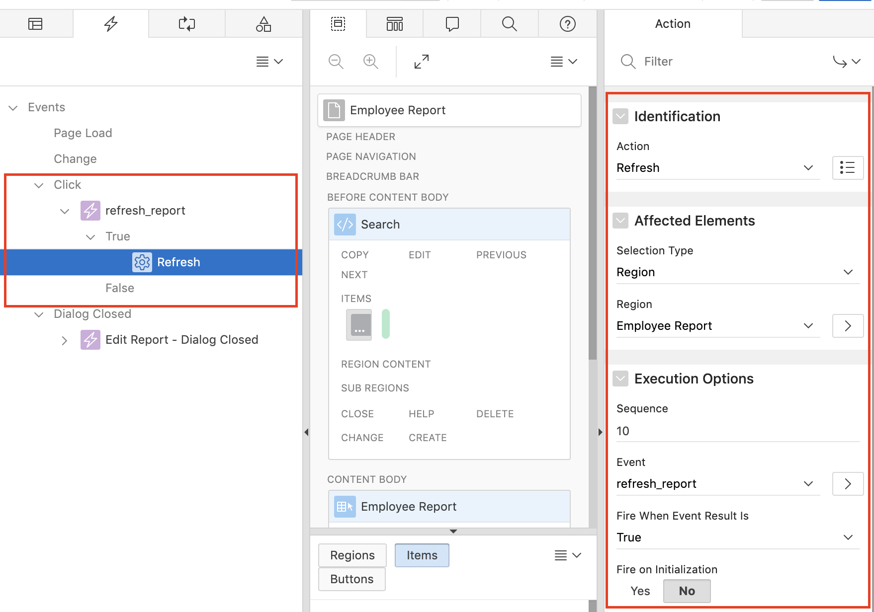 Oracle Apex - Refresh Report Region Using Dynamic Action   Vinish