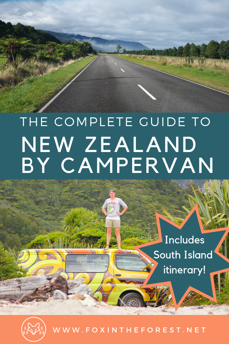 Travel in New Zealand by campervan. Tips and tricks for budget New Zealand travel. Comprehensive itinerary for the South Island of New Zealand. Tips for vanlife in New Zealand. How to find a rental campervan in New Zealand. What to see on the South Island of New Zealand. #NewZealandTravel #travel #vanlife #budgetnewzealand