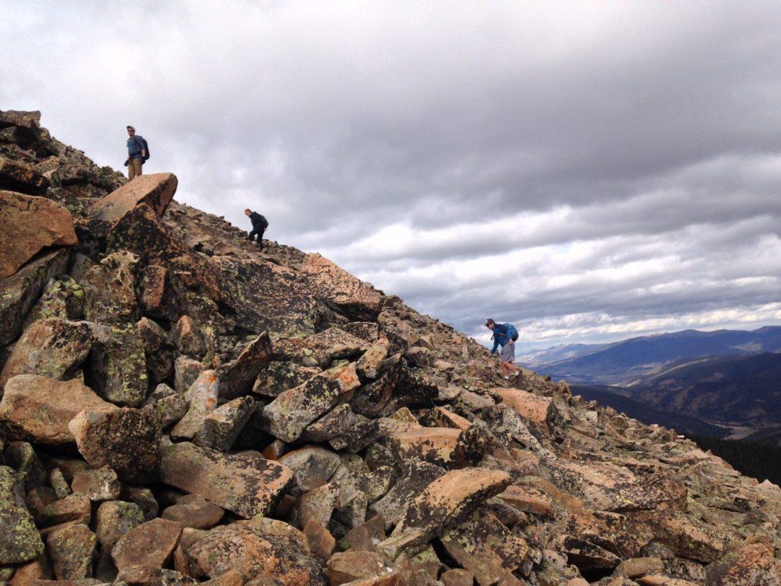 The Steep East Ridge of Mt Guyot