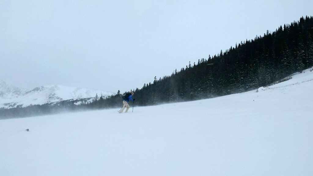 winter hiking and snowshoeing - braving the wind