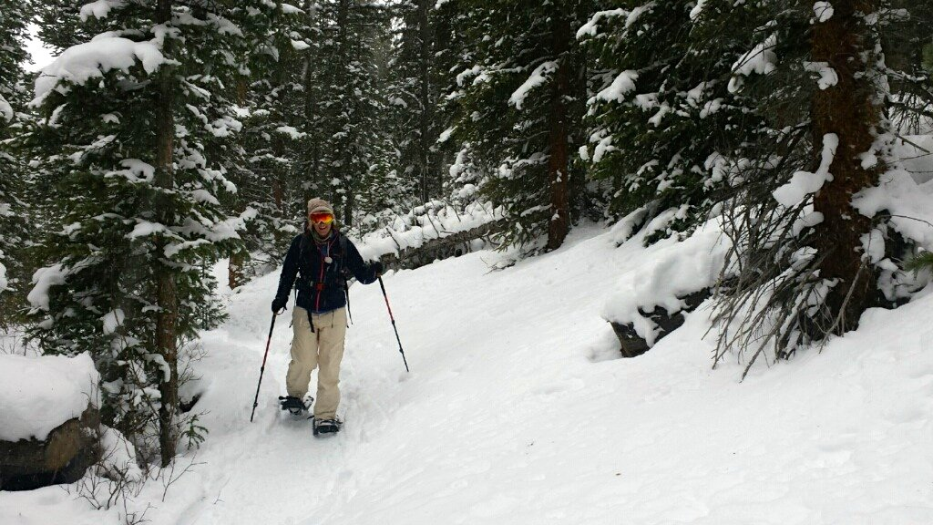 winter hiking and snowshoeing - herman gultch