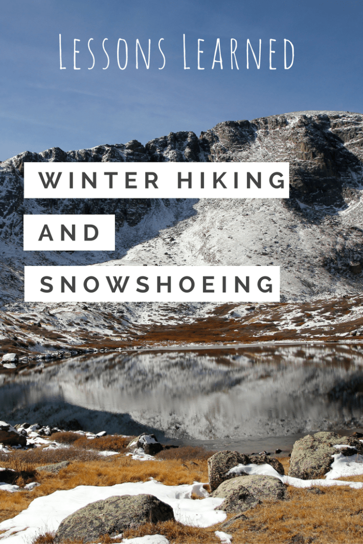 Winter Hiking and snowshoeing - pin me