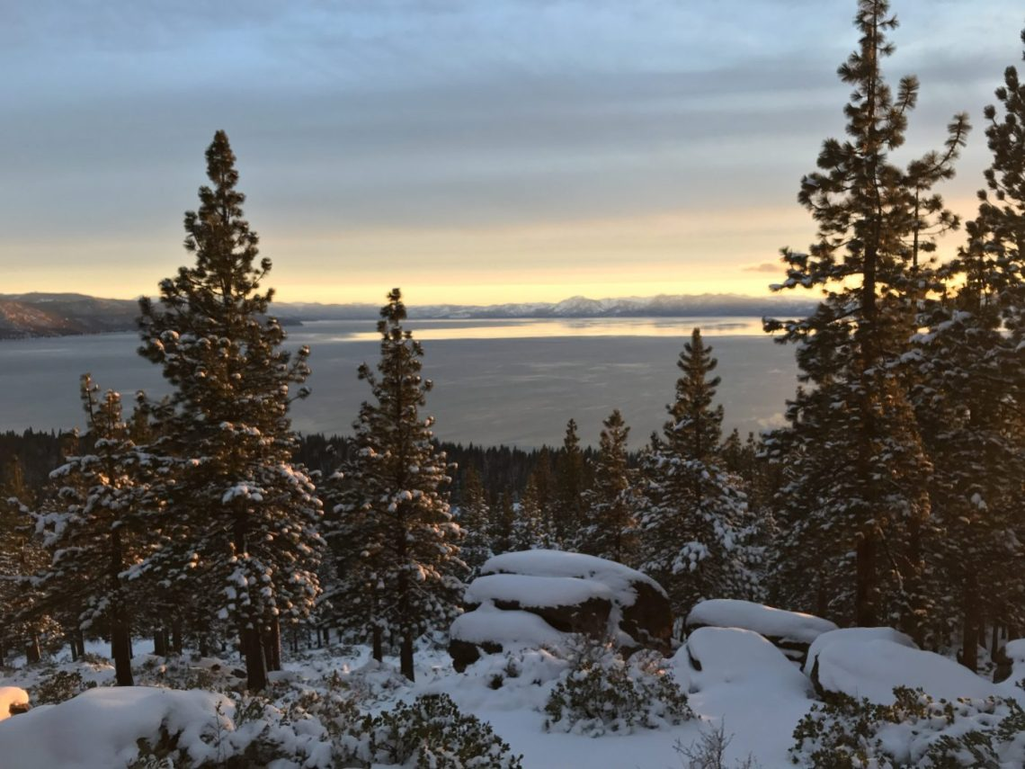 Tahoe Like A local - Snowy Sunsets