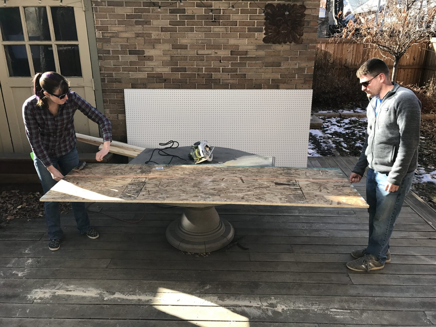 DIY outdoor Gear Closet - building