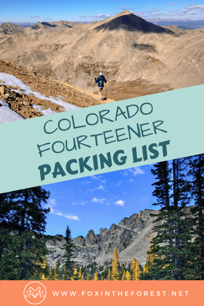 The complete packing list for hiking in the mountains. Everything you need to bring to hike a Colorado 14er. Mountain hike checklist for high altitude hiking. #hiking #colorado #outdoors
