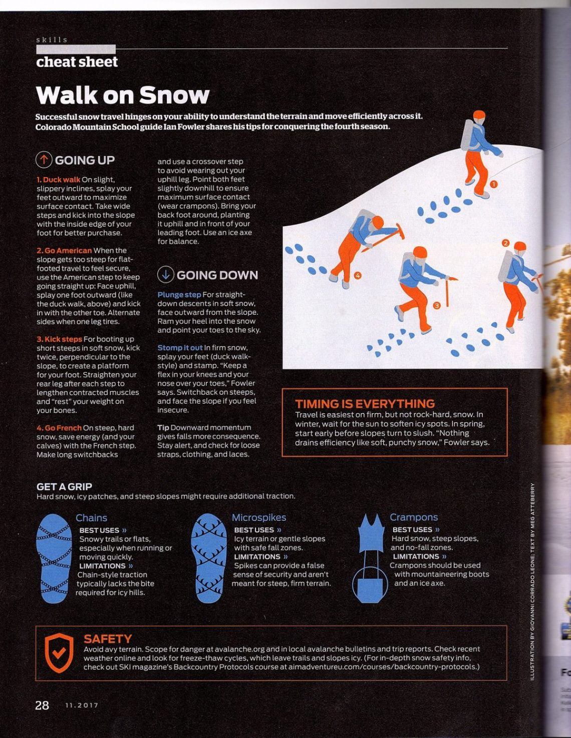 Backpacker Magazine Walk on Snow