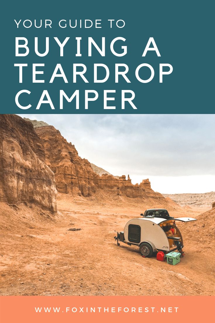 Your complete guide to buying a travel trailer. Tips and tricks on how to score a good deal on a teardrop camper. An in-depth look at what you should look for and what you can easily upgrade on your own. #teardropcamper #camper #camping #outdoors #rv #buyinganrv
