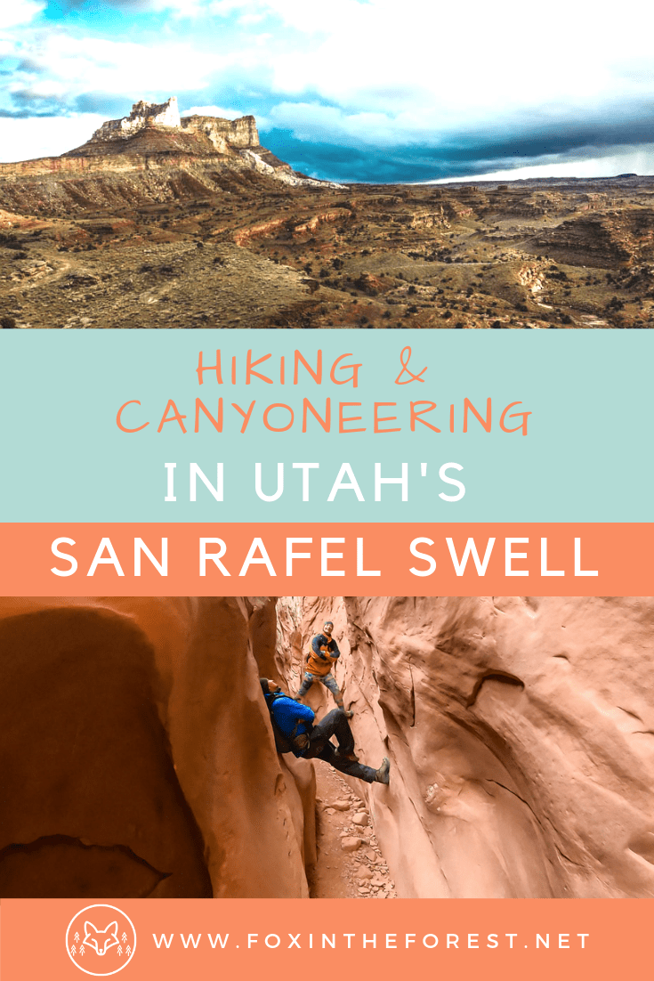 Off the beaten path hikes and canyons in Southern Utah. Explore the San Rafael Swell in Utah. Guide to the San Rafael Swell including slot canyons, hikes, technical rappels and Goblin Valley State Park. Visit southern Utah on a road trip. Best canyon hikes of southern Utah #utah #camping #hiking #canyoneering #outdoors #adventuretravel