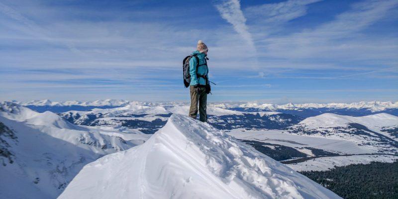 winter ascent of atlantic peak
