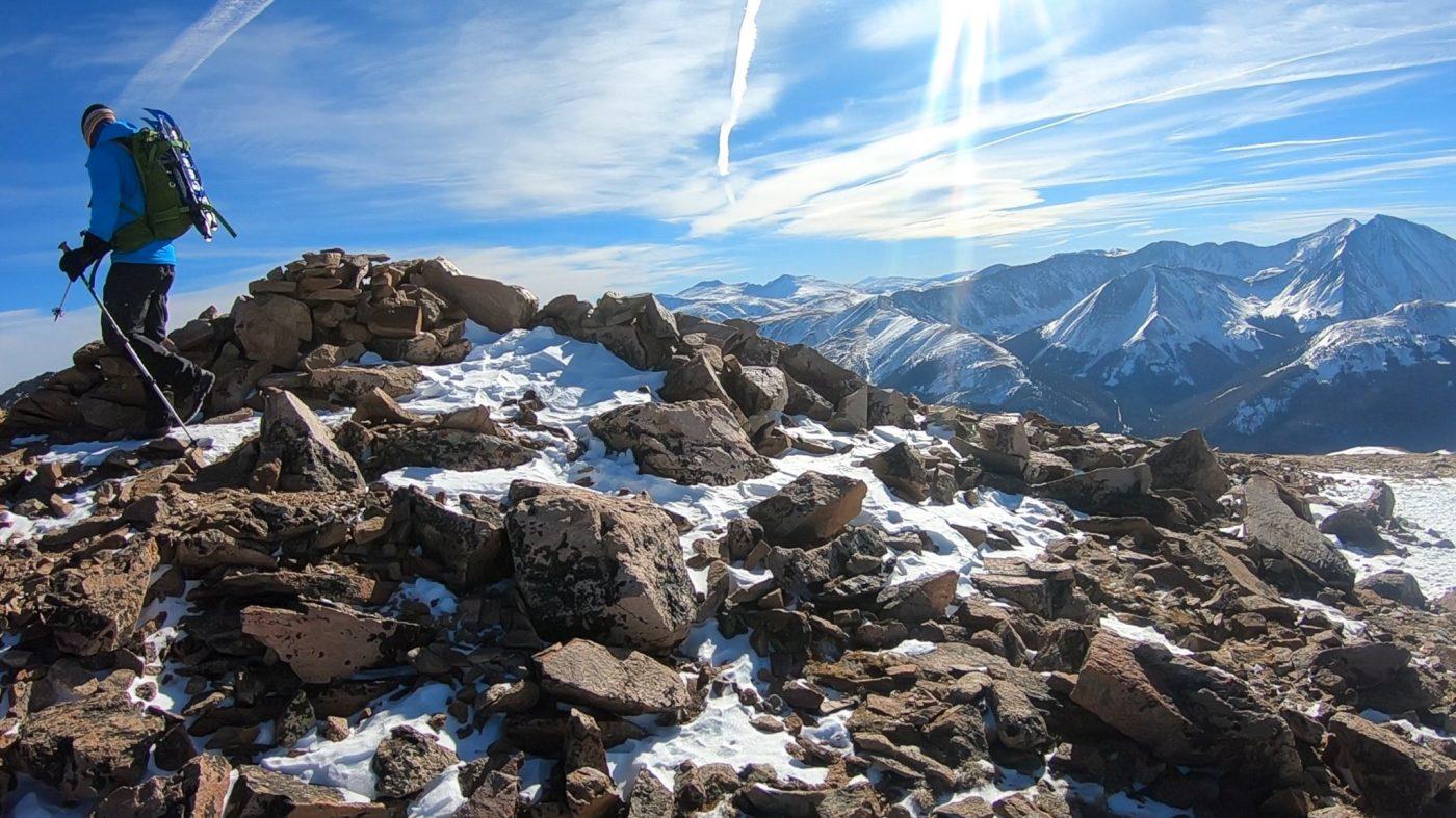 winter ascent of mount pernassus
