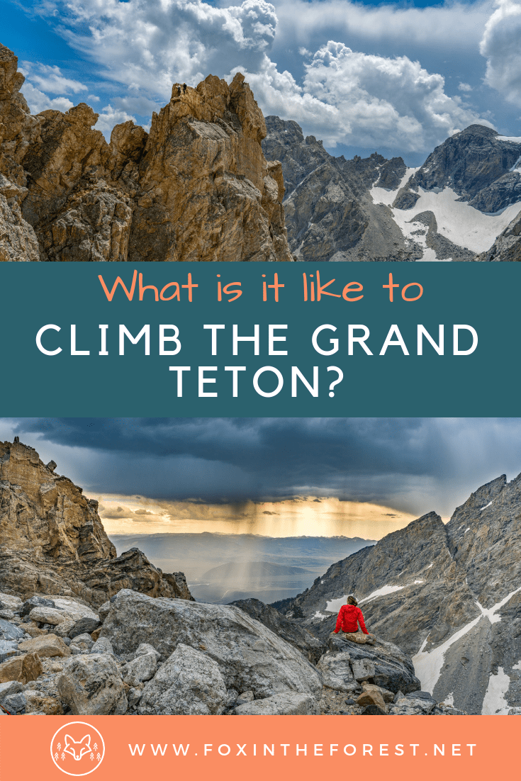 Visit Grand Teton National Park and climb the Grand Teton. Tips for climbing the Grand Teton. Guide services on the Grand Teton. Climbing the Grand Teton. #GrandTetonNationalPark #Mountainclimbing #mountains #outdoors #nationalpark